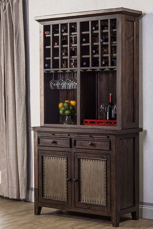Tuscan Retreat Buffet and Hutch - Mocha