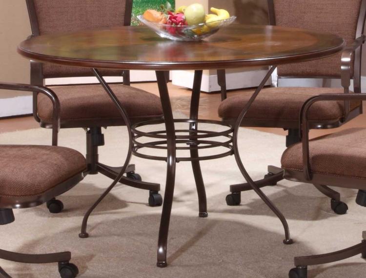 Trebec/Montero Round Wood Dining Table
