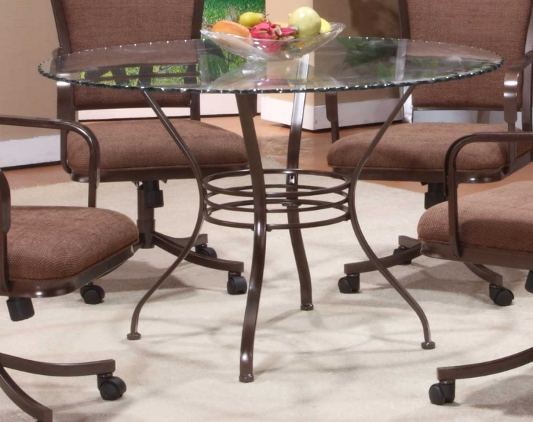 Trebec/Montero Round Glass Dining Table