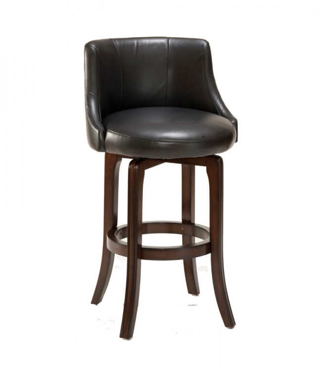 Napa Valley Swivel Counter Stool - Black Vinyl