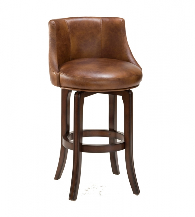 Napa Valley Swivel Counter Stool - Antique Brown Fabric