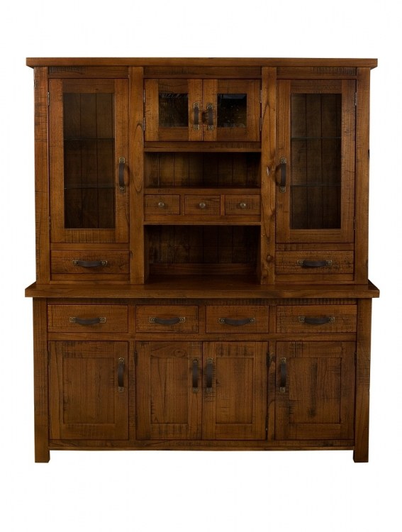 Outback Buffet And Hutch - Distressed Chestnut - Hillsdale