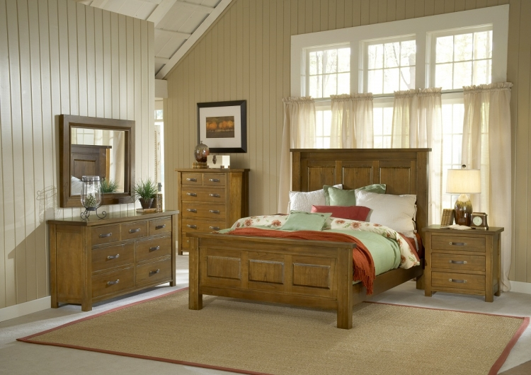 Outback Panel Bedroom Set - Distressed Chestnut - Hillsdale