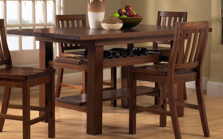 Outback Counter Height Dining Table - Distressed Chestnut - Hillsdale
