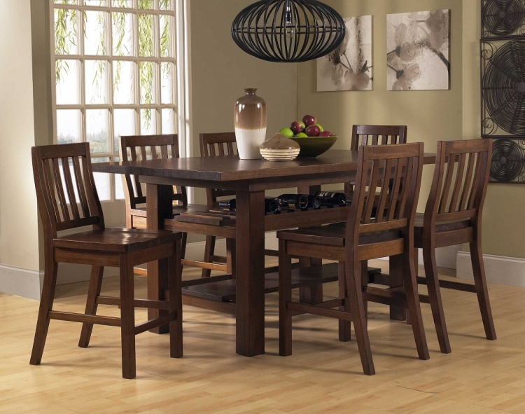 Outback 7-Piece Counter Height Dining Set - Distressed Chestnut - Hillsdale