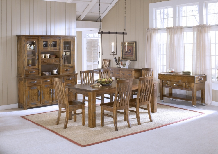 Outback 7-Piece Dining Set - Distressed Chestnut - Hillsdale