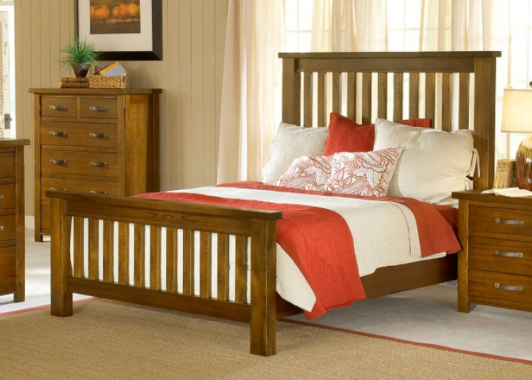 Outback Slat Bed - Distressed Chestnut