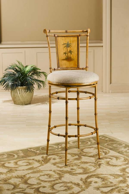West Palm Metal Swivel Bar Stool