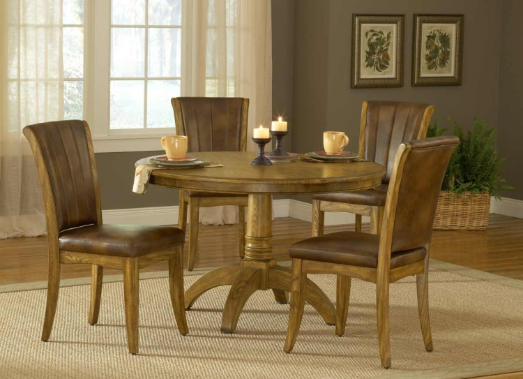 Grand Bay Round Dining Set with Dining Chair - Oak