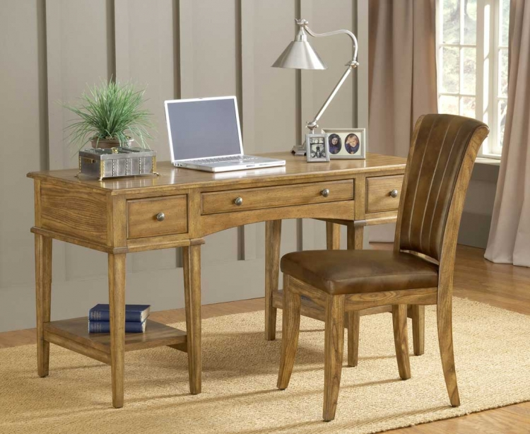 Gresham Desk Set - Oak - Hillsdale