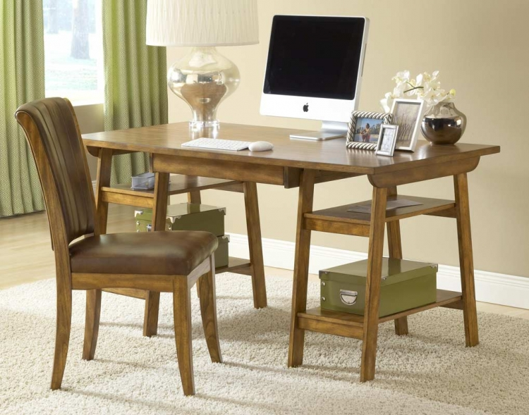 Park Glen Desk Set - Oak - Hillsdale