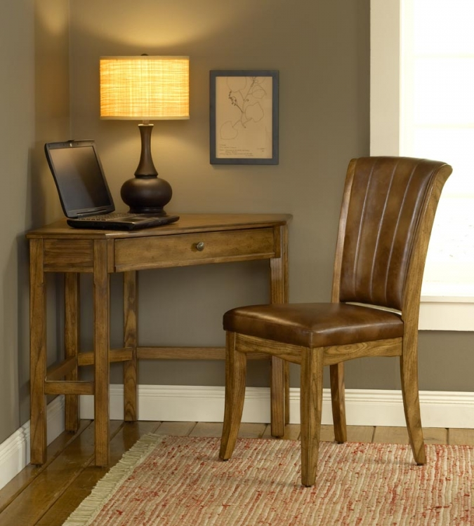 Solano Corner Desk Set - Oak - Hillsdale