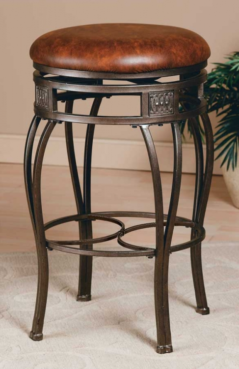 Montello Swivel Bar Stool - Backless - Hillsdale