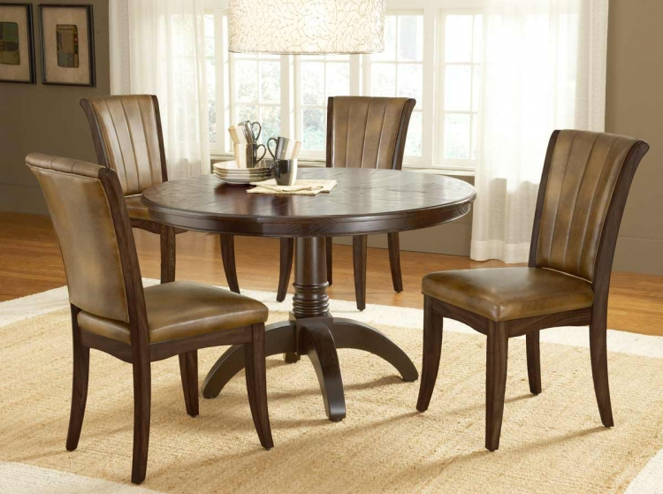 Grand Bay Round Dining Set with Dining Chair - Cherry - Hillsdale