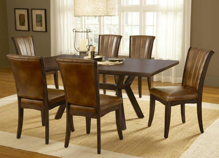 Grand Bay Rectangle Dining Set with Dining Chair - Cherry - Hillsdale