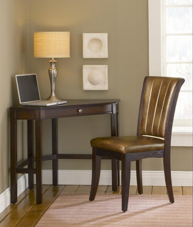 Solano Corner Desk Set - Cherry - Hillsdale