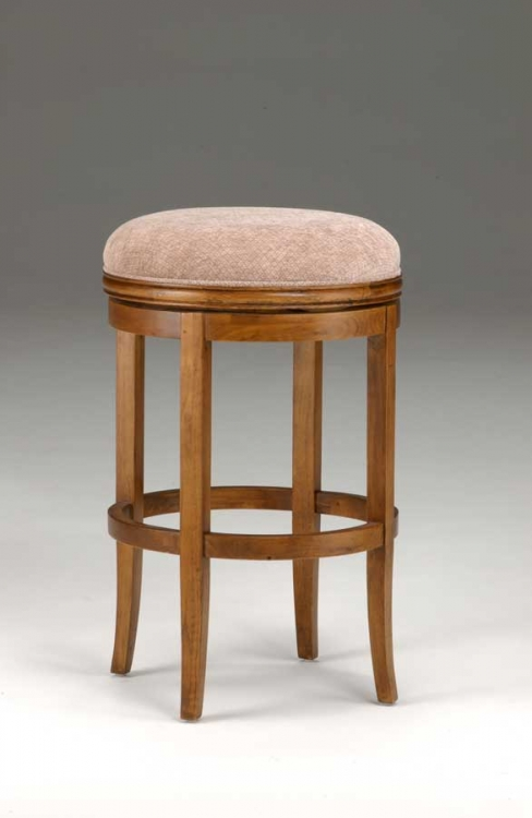 Oak View Backless Swivel Bar Stool - Oak - Hillsdale