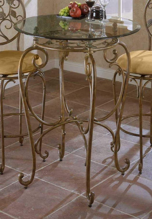 Merlot Metal Pub Table