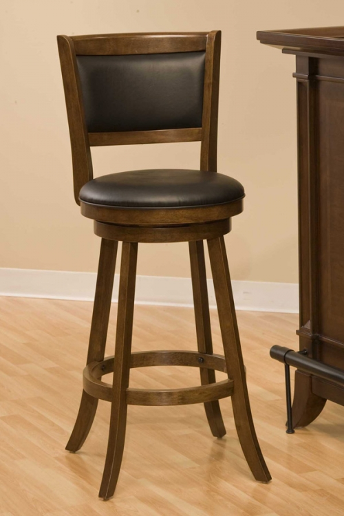 Dennery Swivel Bar Stool - Cherry - Hillsdale