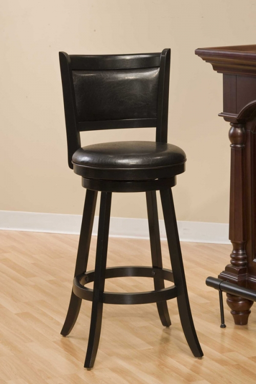 Dennery Swivel Bar Stool - Black - Hillsdale