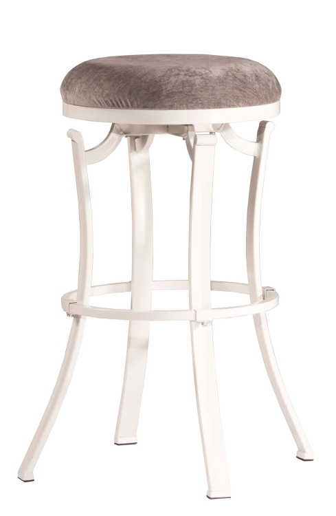 Kelford Swivel Backless Counter Stool - White