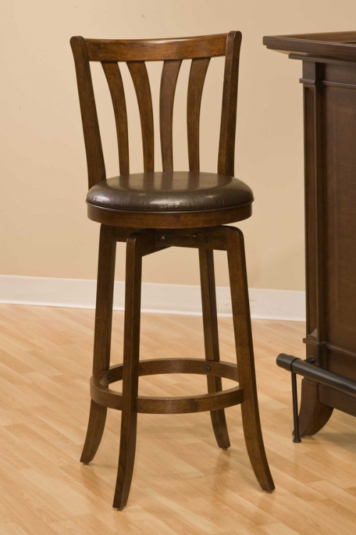 Savana Swivel Bar Stool - Cherry - Hillsdale