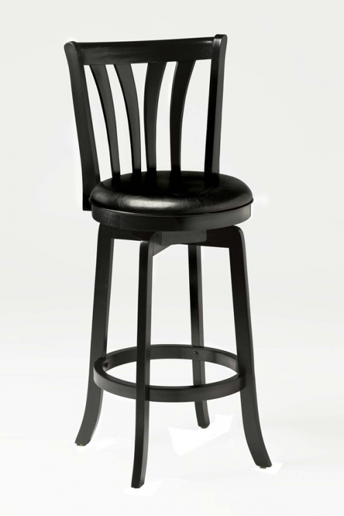 Savana Swivel Counter Stool - Black - Hillsdale