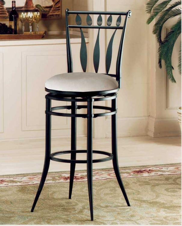 Hudson Metal Swivel Bar Stool