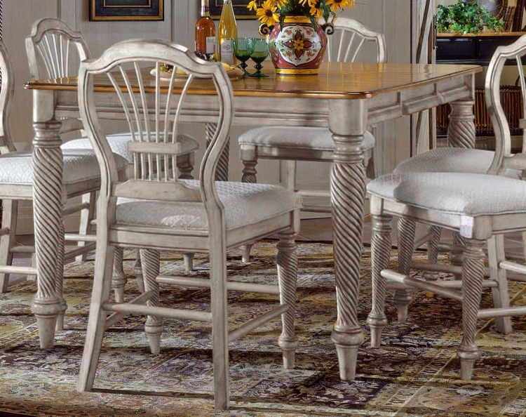 Wilshire Counter Height Gathering Table - Antique White