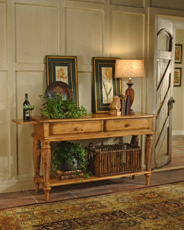 Wilshire Sideboard Table - Antique Pine - Hillsdale