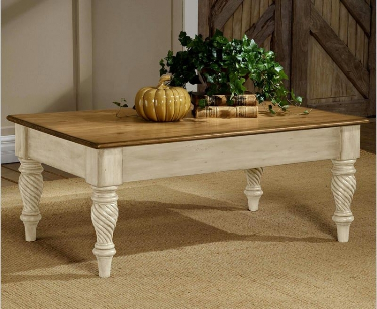 Wilshire Cocktail Table - Antique White - Hillsdale