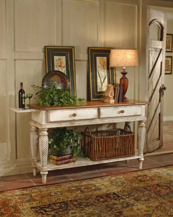 Wilshire Sideboard Table - Antique White - Hillsdale