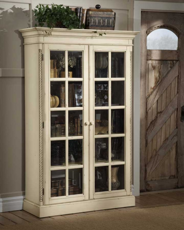 Wilshire Large Library Cabinet - Antique White - Hillsdale