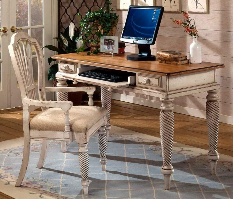 Wilshire Desk Set - Antique White - Hillsdale
