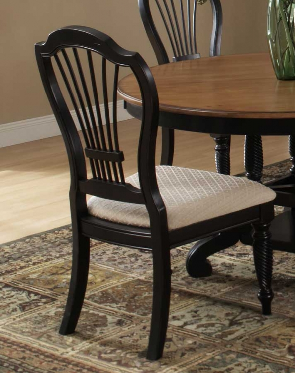 Wilshire Side Chair - Rubbed Black