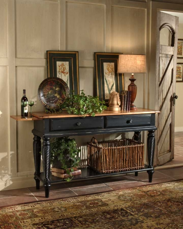 Wilshire Sideboard Table - Rubbed Black - Hillsdale