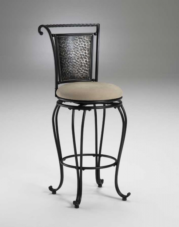 Milan Metal Swivel Counter Stool - Pewter