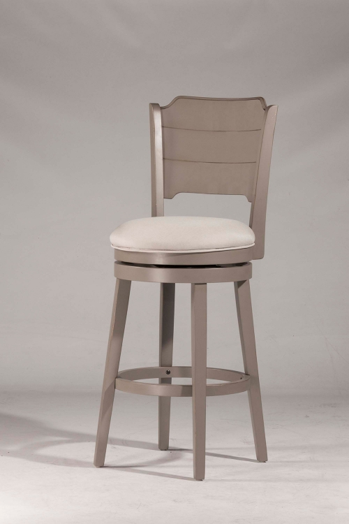Clarion Swivel Counter Stool - Gray - Fog Fabric