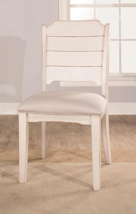 Clarion Desk Chair - Gray/White - Fog Fabric