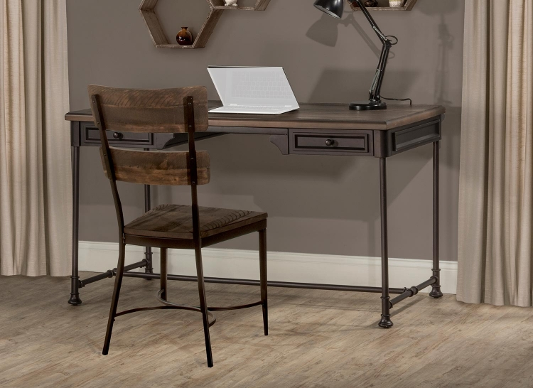 Casselberry Desk and Chair Set - Walnut/Brown
