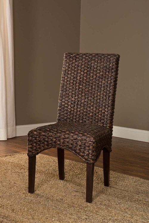 Water Hyacinth Chair - Chocolate Wash