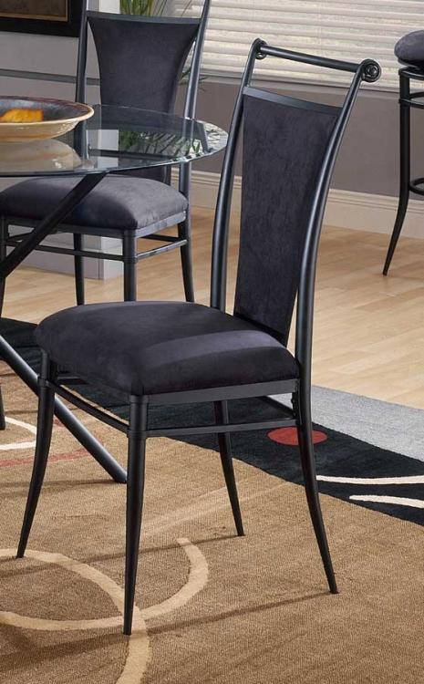Cierra Dining Chairs - Black Fabric