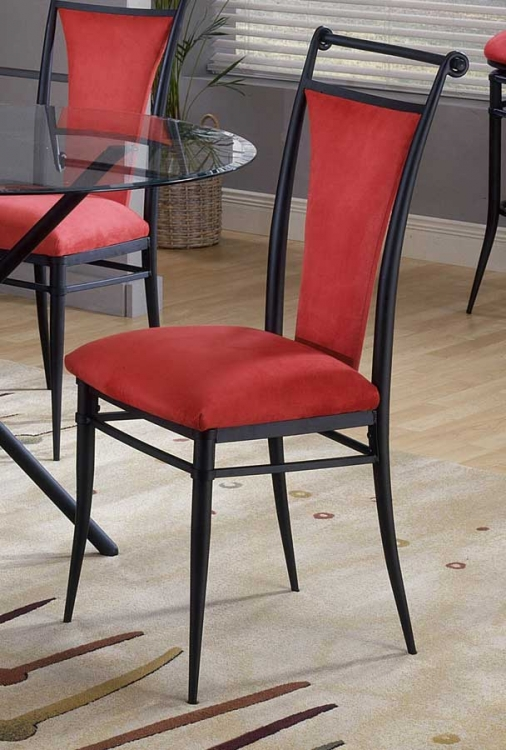 Cierra Dining Chairs - Flame Fabric