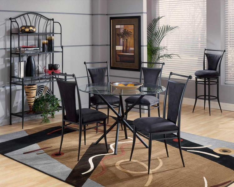 Cierra Round Dining Collection - Black - Hillsdale