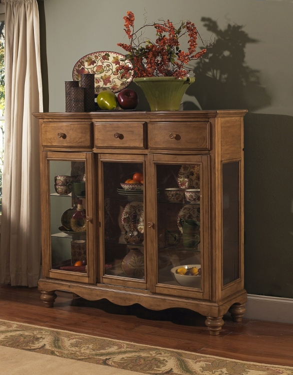 Hamptons Server - Weathered Pine