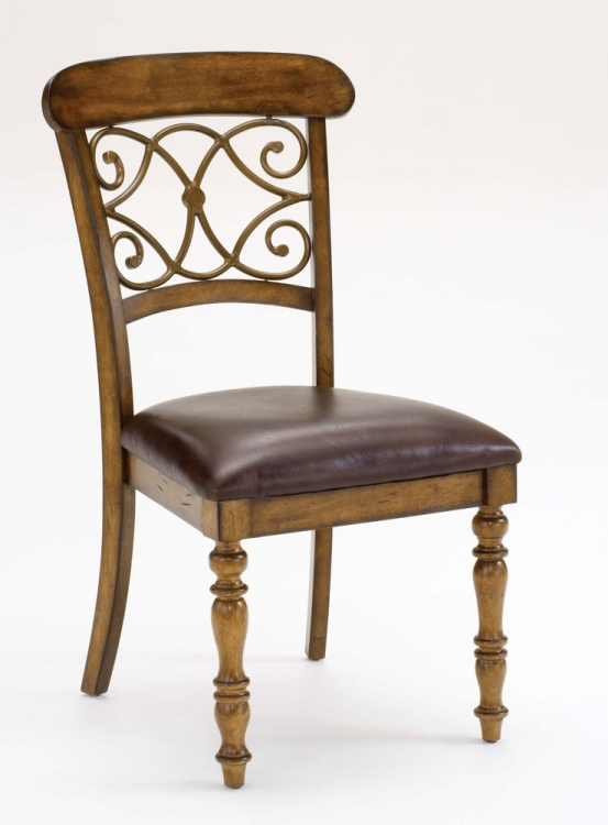 Bergamo Dining Chairs - Weathered Brown - Hillsdale