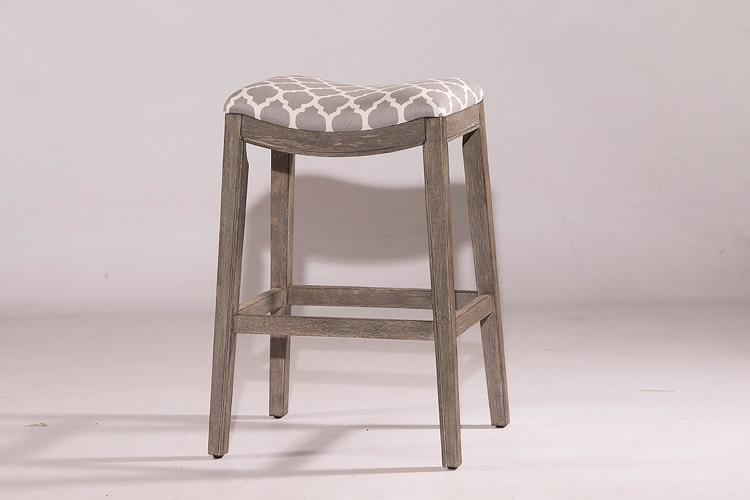 Sorella Non-Swivel Counter Stool - Gray - Trellis Gray Fabric