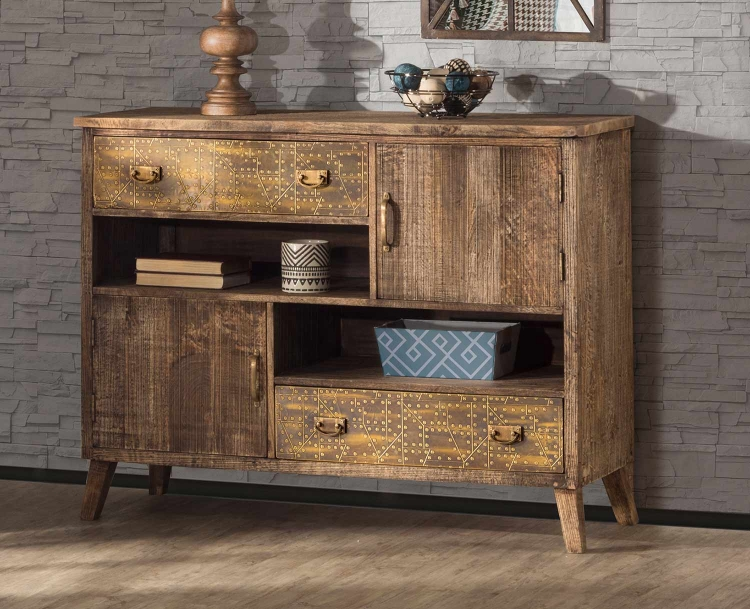 Lavelle 2-Door and Drawers Cabinet - Rough Sewn Oak