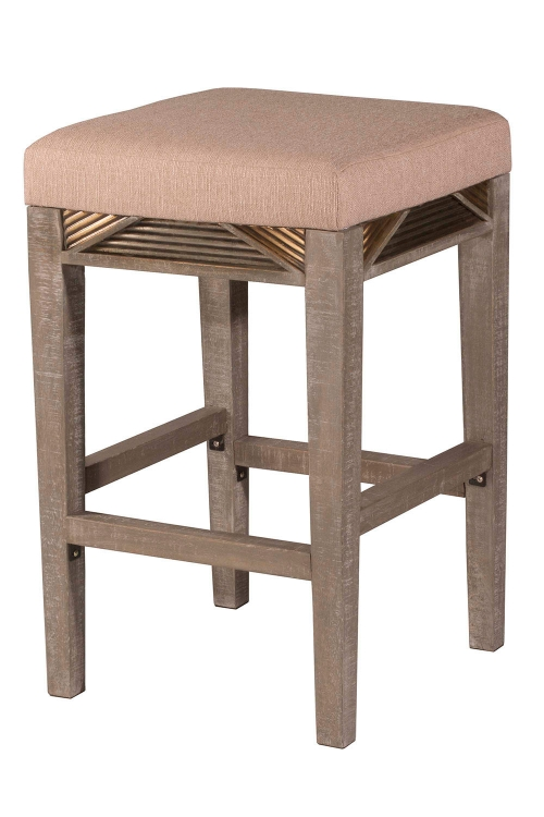 Bayshore Non-Swivel Backless Counter Stool - Graywash - Oyster Fabric