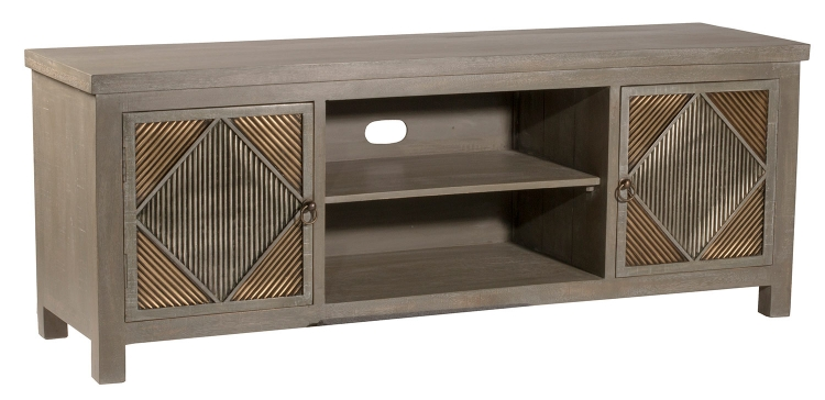 Bayshore Entertainment Console - Distressed Graywash